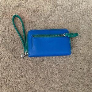 Light blue hand bag
